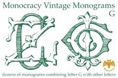 Monocracy Vintage Monograms G Product Image 4