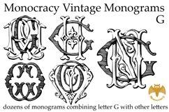 Monocracy Vintage Monograms G Product Image 2