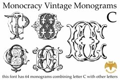Monocracy Vintage Monograms Pack ABCDEFG Product Image 5