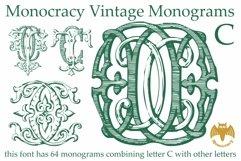 Monocracy Vintage Monograms Pack ABCDEFG Product Image 6