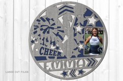 Monogram Girls Sports Photo Frame SVG Laser Files Bundle Product Image 5