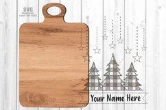 Monogram Christmas Tree Cutting Board SVG Glowforge Files Product Image 2