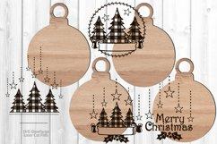 Monogram Christmas Ornament SVG Glowforge Files Bundle Product Image 2