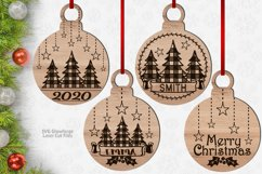 Monogram Christmas Ornament SVG Glowforge Files Bundle Product Image 1