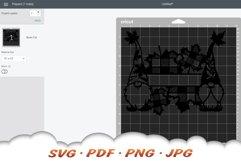 Fall Garden Gnome Monogram SVG Cut Files Product Image 2