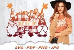 Fall Garden Gnome Monogram SVG Cut Files Product Image 1