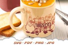 Fall Garden Gnome Monogram SVG Cut Files Product Image 4