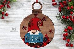 Christmas Gnome Ornament SVG Glowforge Files Bundle 41 Product Image 2