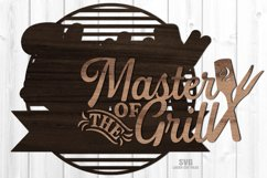 Monogram Master Of The Grill SVG Glowforge Laser Cut Files Product Image 2