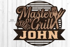 Monogram Master Of The Grill SVG Glowforge Laser Cut Files Product Image 1