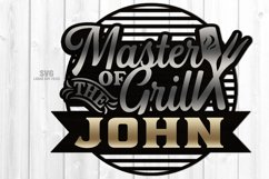 Monogram Master Of The Grill SVG Glowforge Laser Cut Files Product Image 3