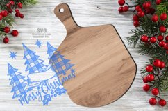 Monogram Christmas Cutting Board SVG Glowforge Files Sign Product Image 2