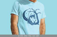 Monogram Shadow Wolf SVG Product Image 2