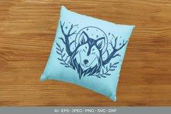 Monogram Shadow Wolf SVG Product Image 3