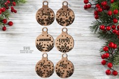 Monogram Christmas Ornament SVG Glowforge Files Bundle Product Image 3
