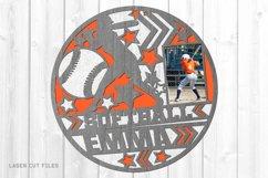 Monogram Girls Sports Photo Frame SVG Laser Files Bundle Product Image 2