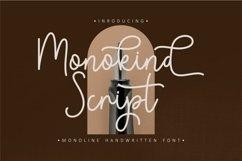 Monokind Script - Monoline Handwritten Product Image 1
