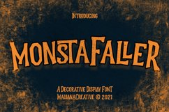 Monstafaller Display Font Product Image 1