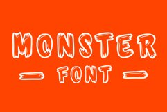 Monster Font - 26 CAPS Alphabet Characters & Numbers Product Image 2