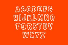 Monster Font - 26 CAPS Alphabet Characters & Numbers Product Image 3