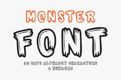 Monster Font - 26 CAPS Alphabet Characters & Numbers Product Image 1