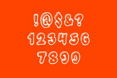 Monster Font - 26 CAPS Alphabet Characters & Numbers Product Image 4