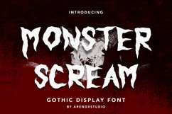 Monster Scream - Gothic Display Font Product Image 1