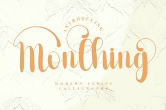 Monthing - Modern Script Calligraphy Font Product Image 1