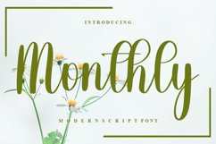 Monthly - Modern Script Font Product Image 1