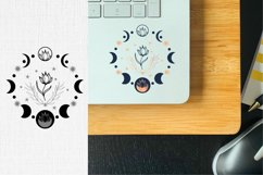 Moon phase SVG bundle, boho butterfly svg for lap top stickers design, sublimation, decals