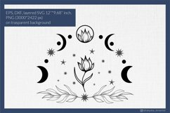 Moon phases with flower svg for t-shirt design