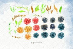 Cute Glitter Flower Clipart| Drawberry CP075 Product Image 2