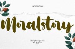 Moralstory Handwritten Script Font Product Image 1