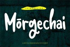 Web Font Morgechai - A Stylish Display Font Product Image 1