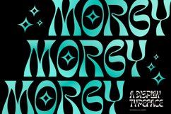 Morgy Psychedelic display font Product Image 1