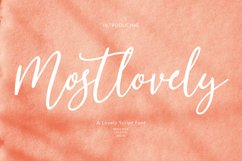 Mostlovely Lovely Script Font Product Image 1