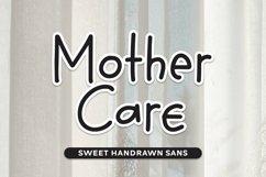 Web Font Mother Care - Sweet Handrawn Sans Font Product Image 1