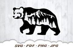 Mountain Bear SVG Cut Files Product Image 3