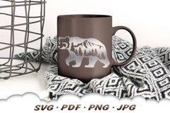Mountain Bear SVG Cut Files Product Image 4