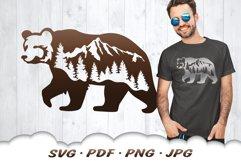 Mountain Bear SVG Cut Files Product Image 1