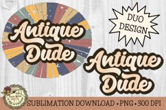 Antique Dude-Vintage Style Sublimation Father's Day Design Product Image 1