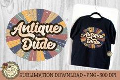 Antique Dude-Vintage Style Sublimation Father's Day Design Product Image 2