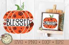 Fall Pumpkin SVG Bundle-Thankful-Grateful-Blessed-Welcome Product Image 2