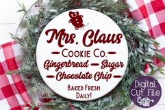 Christmas Svg, Mrs. Claus Cookie Co., Round Christmas Product Image 1