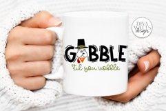 Gobble 'Til You Wobble SVG | Thanksgiving Turkey Design Product Image 3