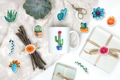 Watercolor cacti and succulents Product Image 5