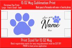 Sublimation - Christmas Paws - three 15 oz. Mug Templates Product Image 4