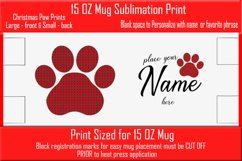 Sublimation - Christmas Paws - three 15 oz. Mug Templates Product Image 2