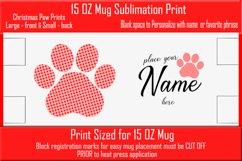 Sublimation - Christmas Paws - three 15 oz. Mug Templates Product Image 6