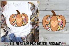 Fall Heart Pumpkin Sublimation Design Product Image 1